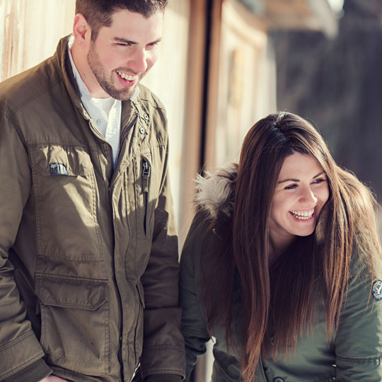 Adam & Angela Engaged // Winter Snow Engagement at Asbury Woods Nature Center