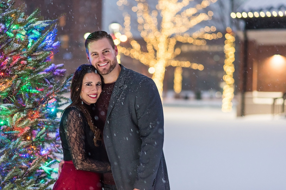 Downtown Erie, Perry Square, Erie PA Engagement Photography, Rachel Lusky Photography