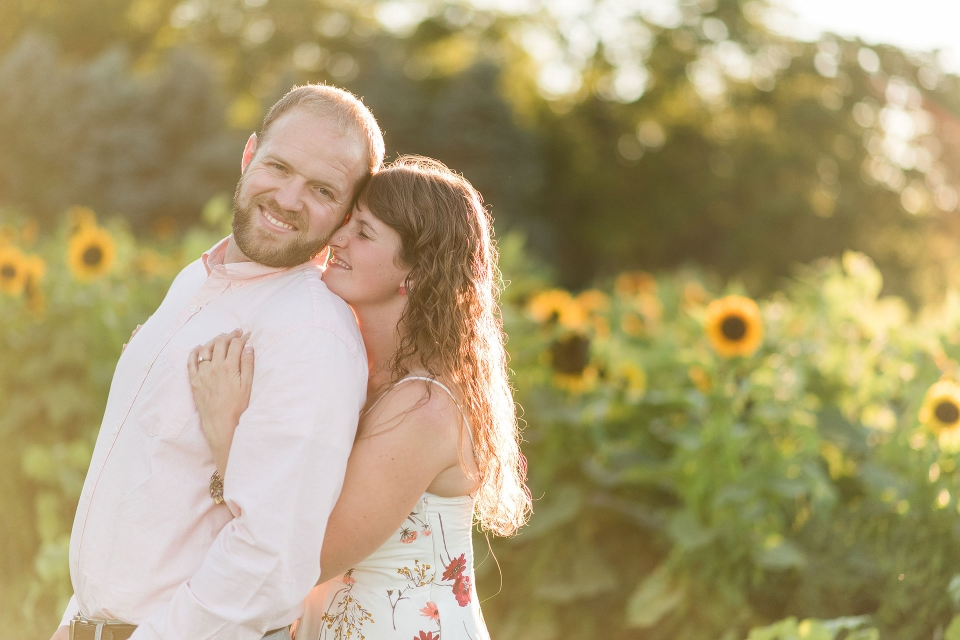 Sunflowers, Franks Farmers Market, Country Engagement Photography, Rachel Lusky Photography